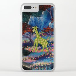 lonely giraffe Clear iPhone Case