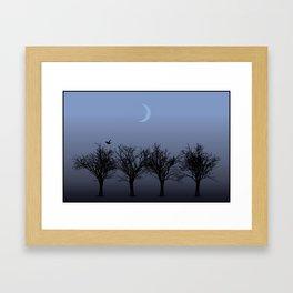 4 Trees Framed Art Print