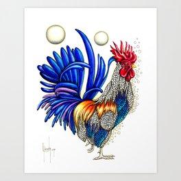 Gallo de las dos lunas Art Print