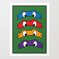 tmnt Art Prints featuring TMNT by Kaylabeaisaflea