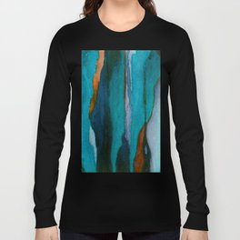 """""""a dark february redux1"""" abstract watercolor painting Long Sleeve T-shirt"""