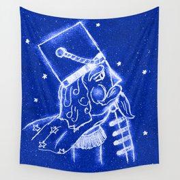 Nutcracker in Bright Blue Wall Tapestry
