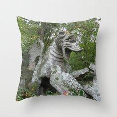 Bomarzo Dragon Throw Pillow