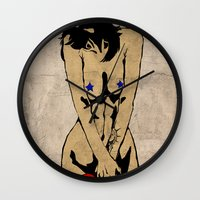 avenger Wall Clocks featuring The second avenger by Misha Libertee