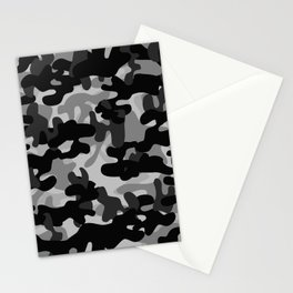 Camouflage (Gray) Stationery Cards