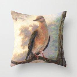 Passenger Pigeon - Martha Finds Her Flock  Throw Pillow