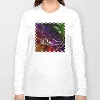 interstellar Long Sleeve T-shirts featuring Interstellar Snake by Distortion Art