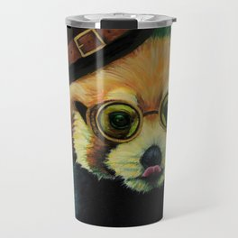 Steampunk Red Panda Travel Mug