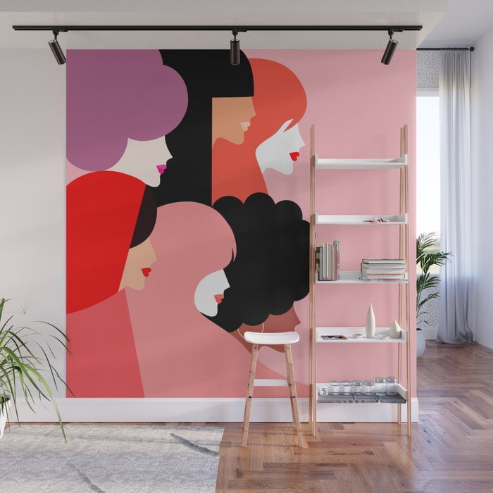 Girl Power we persist  #girlpower Wall Mural