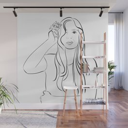 A Good Day #drawing #illustration #portrait Wall Mural