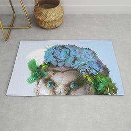 Cool Animal Art - Owl with a Flower Crown Rug