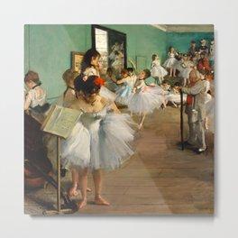 Edgar Degas - The Dance Class Metal Print