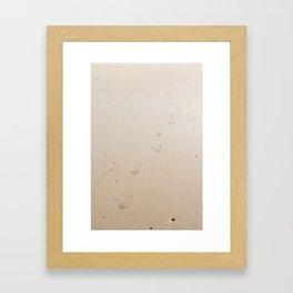 Footsteps in the Sand Framed Art Print