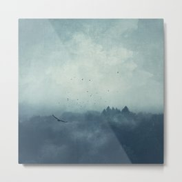 Flight Home - Mist Over Landscape Metal Print