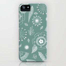 Flora Pattern II Light on Dark iPhone Case