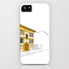 Yellow San Francisco Haus iPhone Case