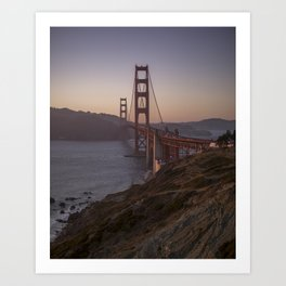 Golden Gate Bridge at Sunset Art Print