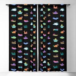 Sea slug - black Blackout Curtain