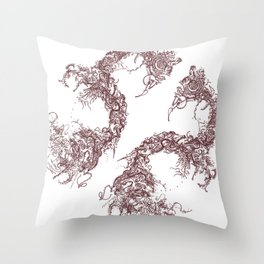 Study in Symmetry (No. 2) | Burnt sienna Throw Pillow