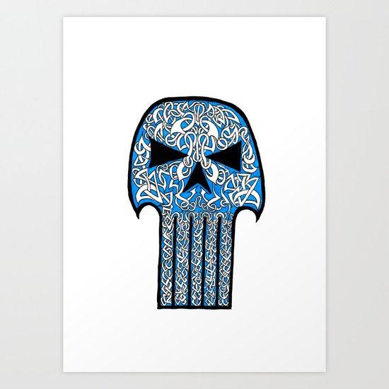 Celtic Punisher Art Print