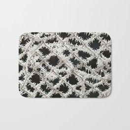 Frosted Fence Bath Mat