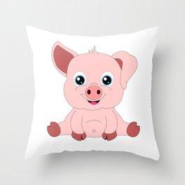 Year of the Pig Piggy Piglet Lover Luck Gift Throw Pillow