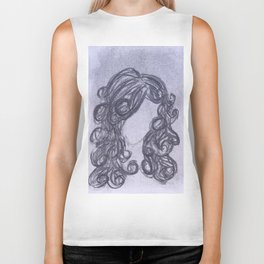 Girl with Curly Hair Biker Tank