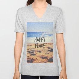 Happy Place Beach Unisex V-Neck