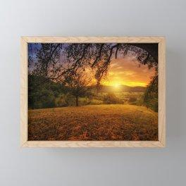 Scenic landscape Photo at Sunset Framed Mini Art Print