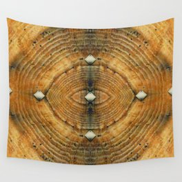 Golden Brown Studded Floor Pattern Wall Tapestry