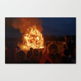 Easter fire - the inter is over (3) Canvas Print