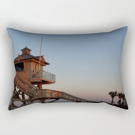 Guard Tower At Dusk Rectangular Pillow