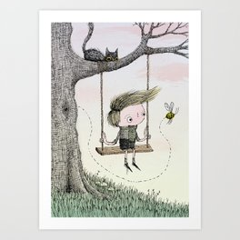 'Boy & Bee' Art Print