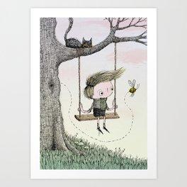 'Boy & Bee' Art Print