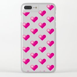 Hearts_E01 Clear iPhone Case