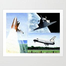 Magnificent flying machine Art Print