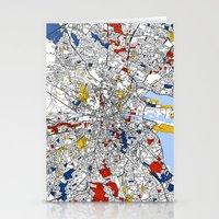 dublin Stationery Cards featuring Dublin mondrian by Mondrian Maps