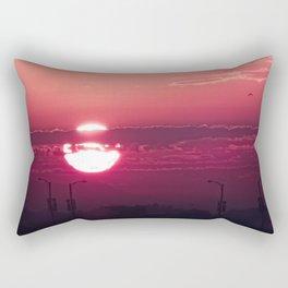 Dark Rose Dawn Rectangular Pillow