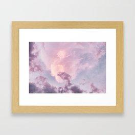 Pastel Purple Clouds Framed Art Print