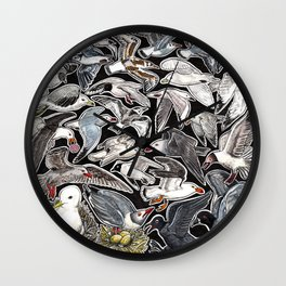 Sea gulls for bird lovers Wall Clock