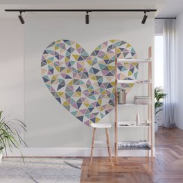 Faceted Heart Wall Mural