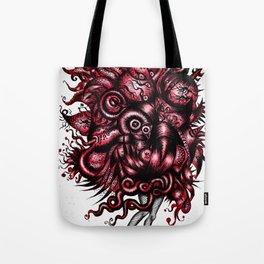 Spaceship Girl_Red Tote Bag