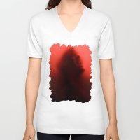 true blood V-neck T-shirts featuring THE TRUE BLOOD by BeautyArtGalery