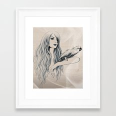 Parrot Girl 2 Framed Art Print