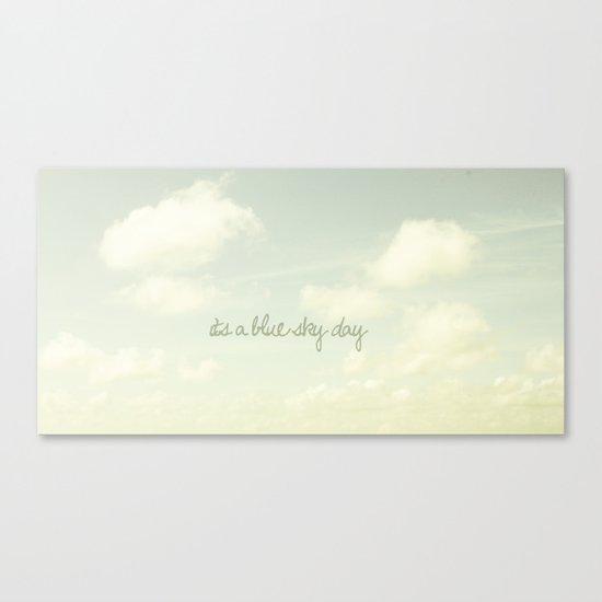 Its a blue sky day II Canvas Print