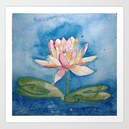 Starry Nite Lotus Art Print