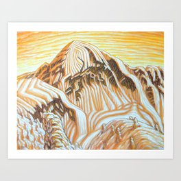 Ymir Peak 3 Art Print