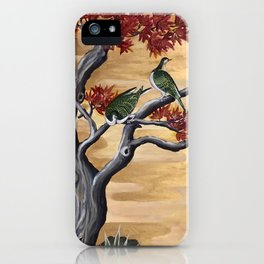 Japanese Fall Leaves iPhone Case