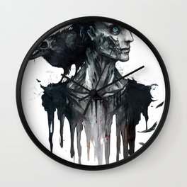 Zombie and Crow Wall Clock