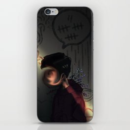 lightly does it iPhone Skin